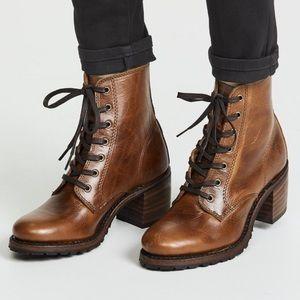 Frye Vibram Sabrina 6G Boots Cognac